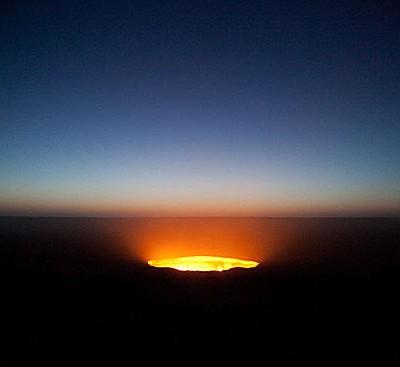 В Туркменистане есть «Дверь в преисподнюю» — место, которое непрерывно горит уже 40 лет