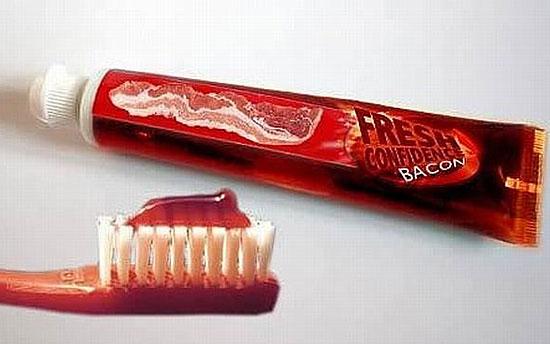 Существует зубная паста со вкусом бекона