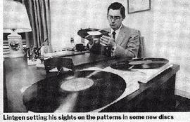 Артур Линтген может распознать автора и название музыкального произведения по виду пластинки