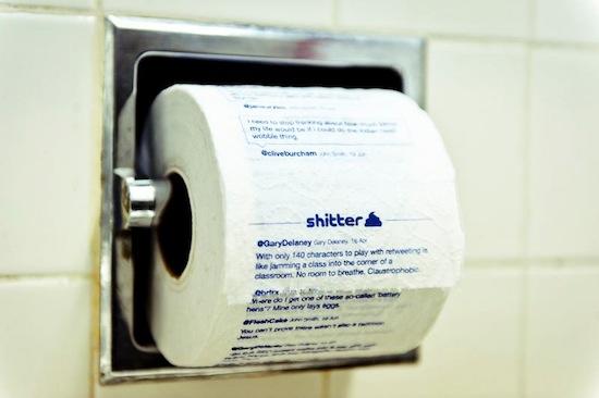 Shitter — это лента Твиттера, напечатанная на туалетной бумаге