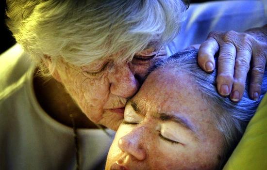 Эдуарда О'Бара с матерью.