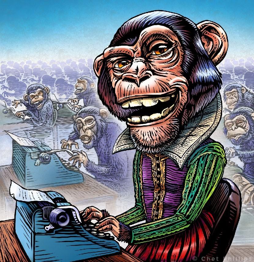Учёные не могут решить, способны ли обезьяны напечатать Шекспира