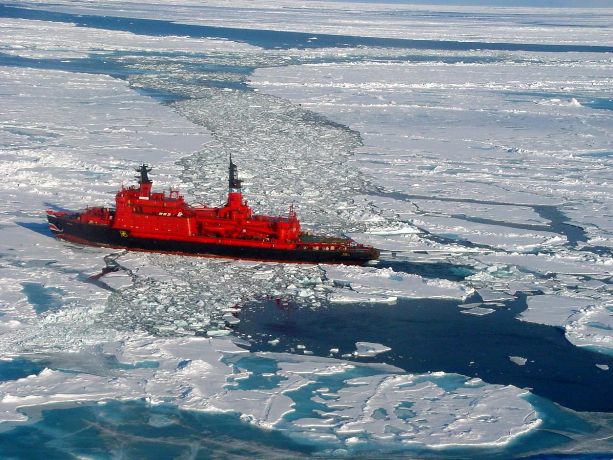 За $25000 вы можете совершить круиз по Северномуполюсу на огромном атомном ледоколе
