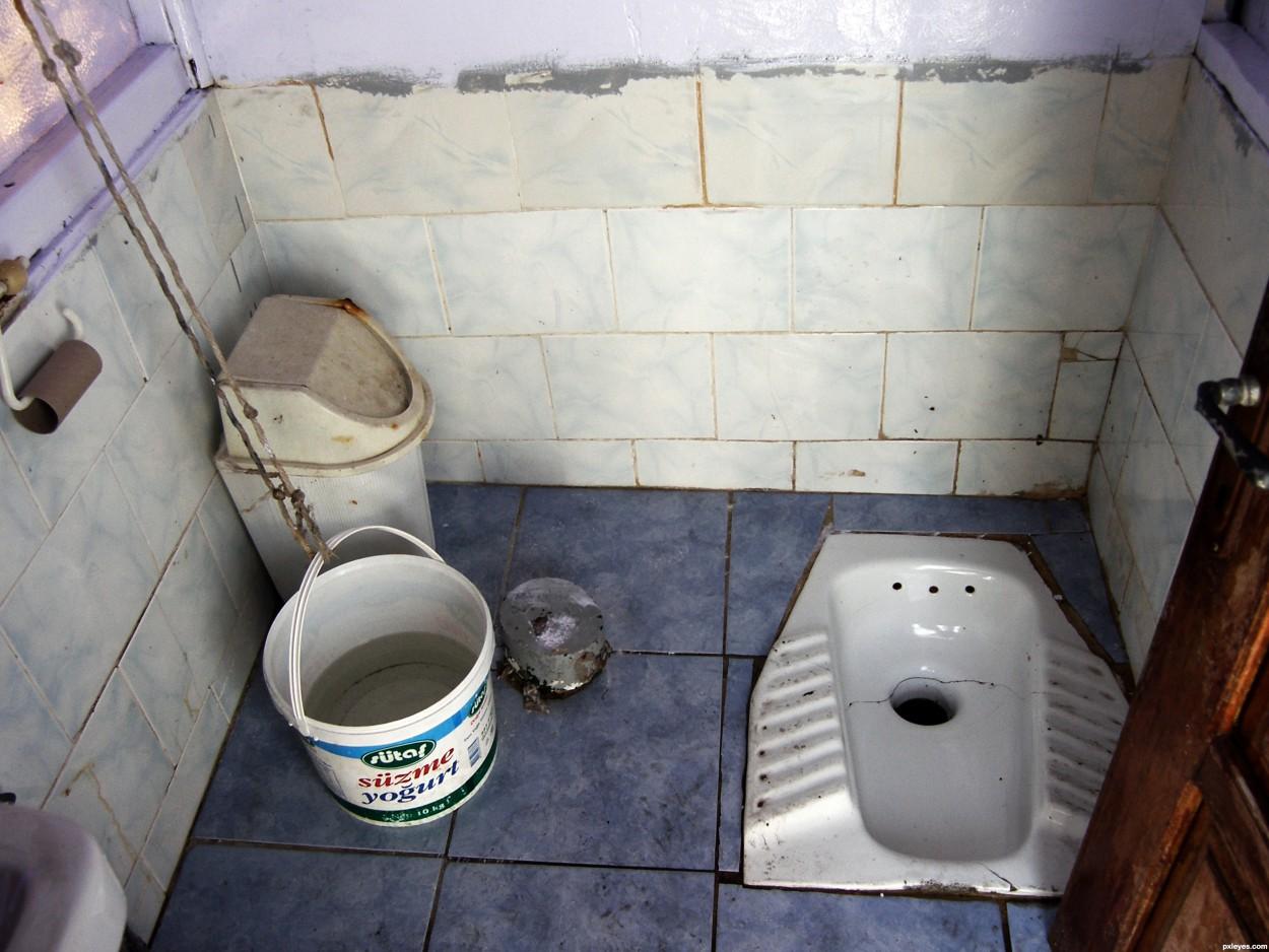 женщины оправляются в туалете камера фотографий