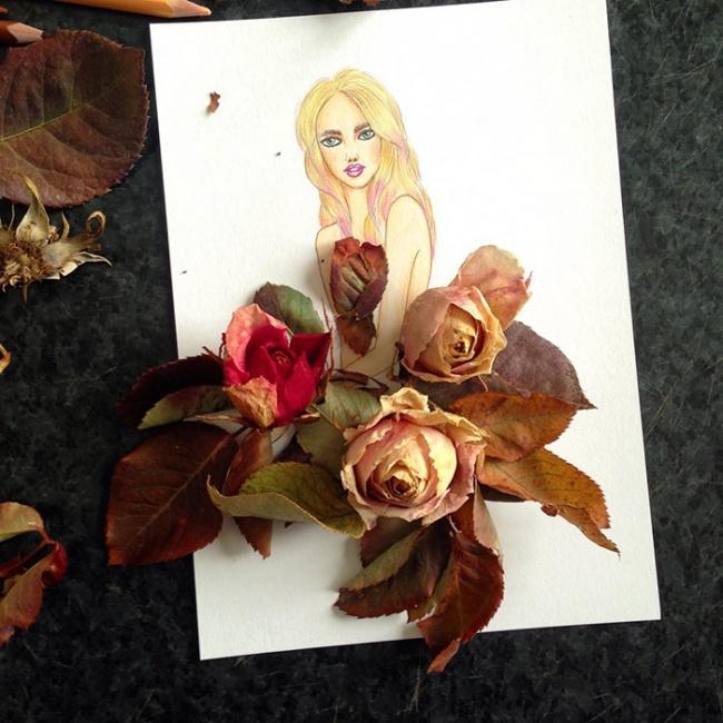 Открытка из лепестков роз живых своими руками на день учителя, мартом картинки надписями