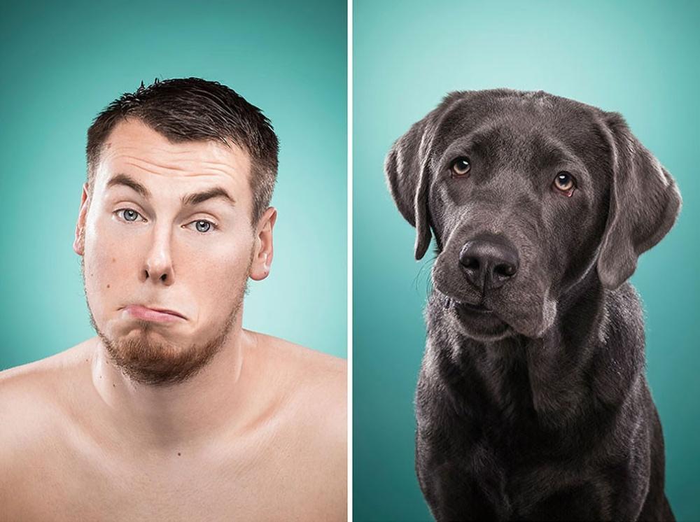 Смешные картинки людей и собака