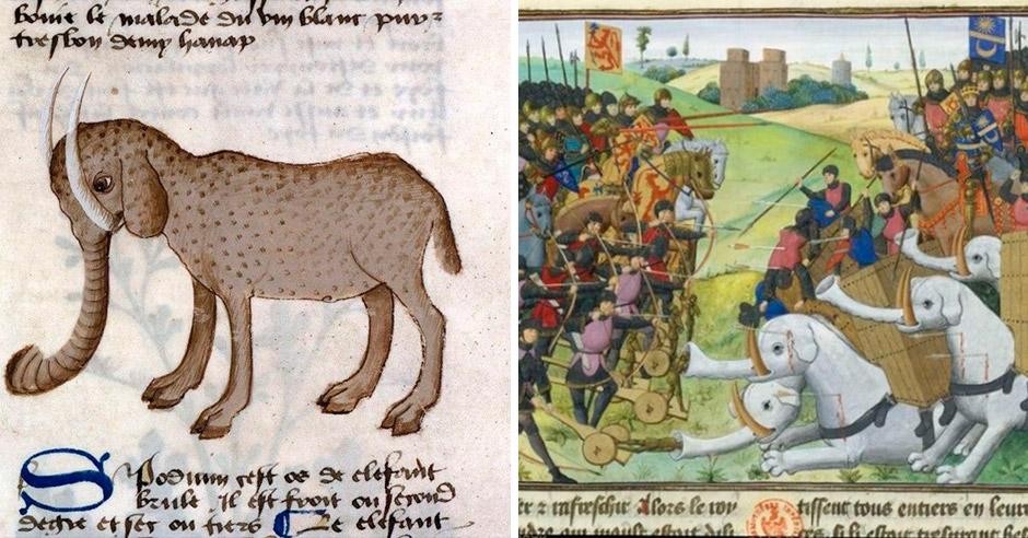 Невообразимые слоны средневековых художников