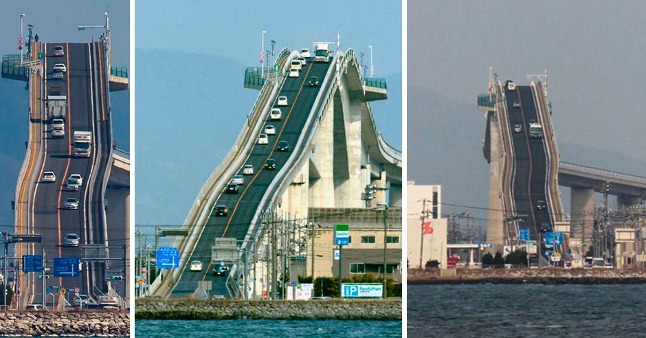 Это не американские горки, а сумасшедший мост в Японии!
