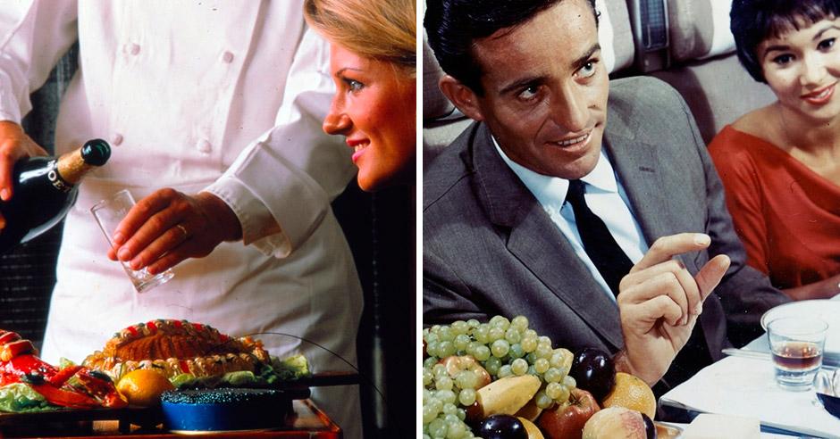Чем кормили авиапассажиров 50 лет назад?