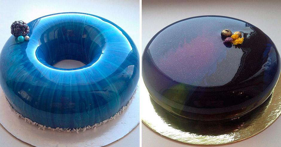 Российский кондитер печёт невероятные зеркальные торты!