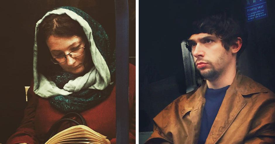 Парень тайно фотографирует пассажиров метро в стиле картин 16-го века. Получается обалденно!