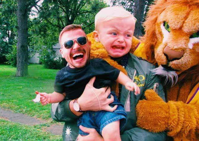 15 невообразимо смешных фотографий, накоторых кое что поменяли местами!