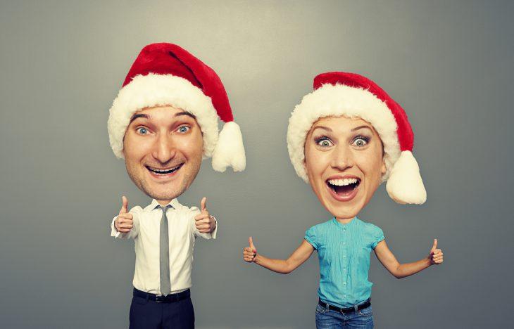 picture of happy bighead couple