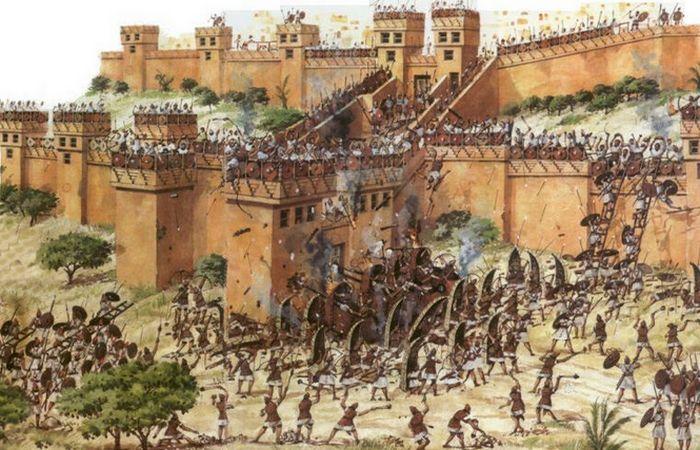 the assyrian army