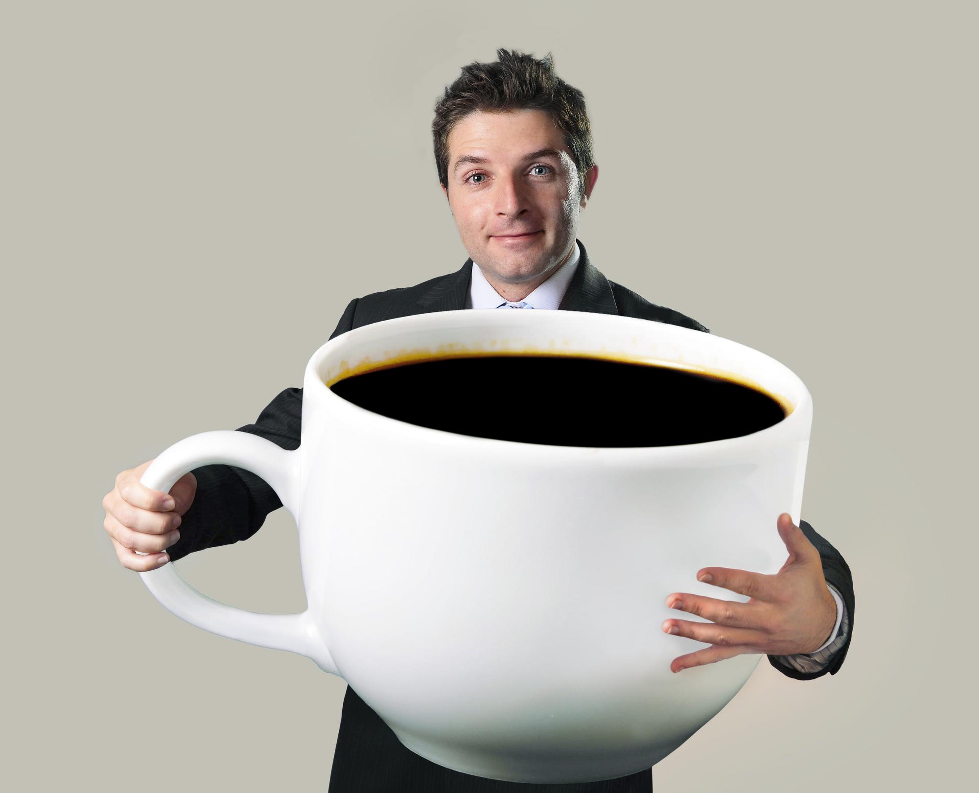Большая чашка кофе фото