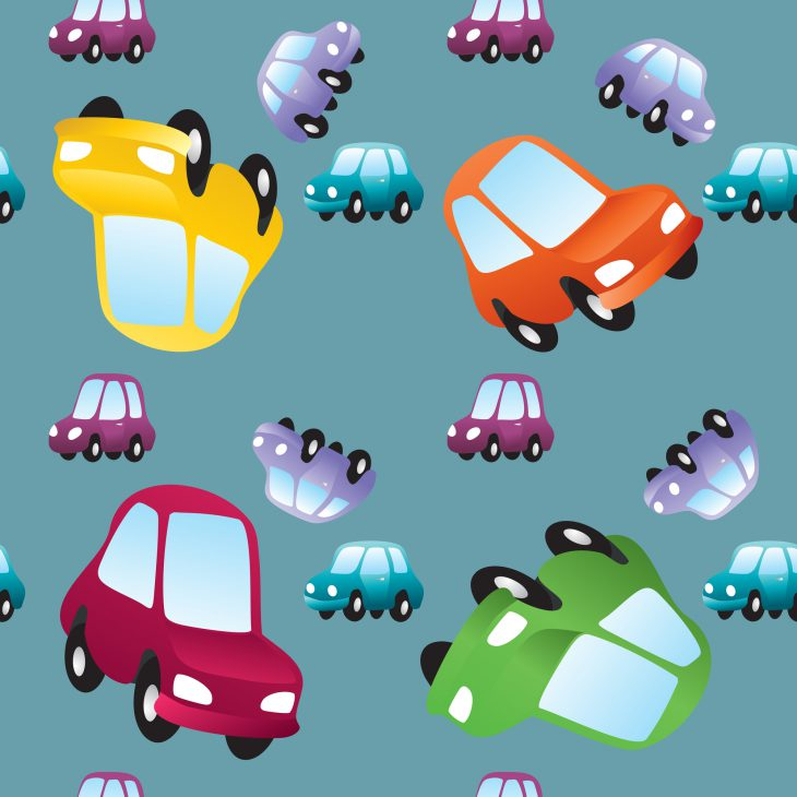 Vector baby toy cars seamless pattern