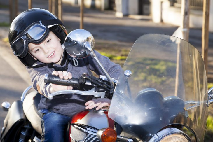 Классный утебя, парень, мотоцикл!