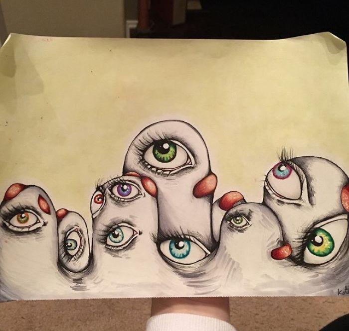 Пробирающие домурашек картины юной художницы, страдающей шизофренией
