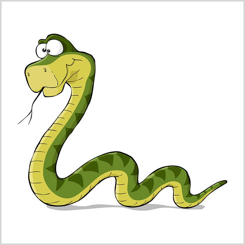 Змейка в картинках