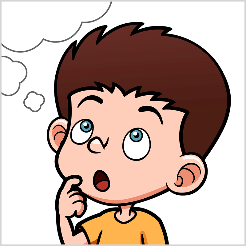 Картинка думающего мальчика