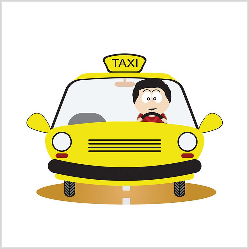 Таксист в картинках для детей, жкх открытка смешные