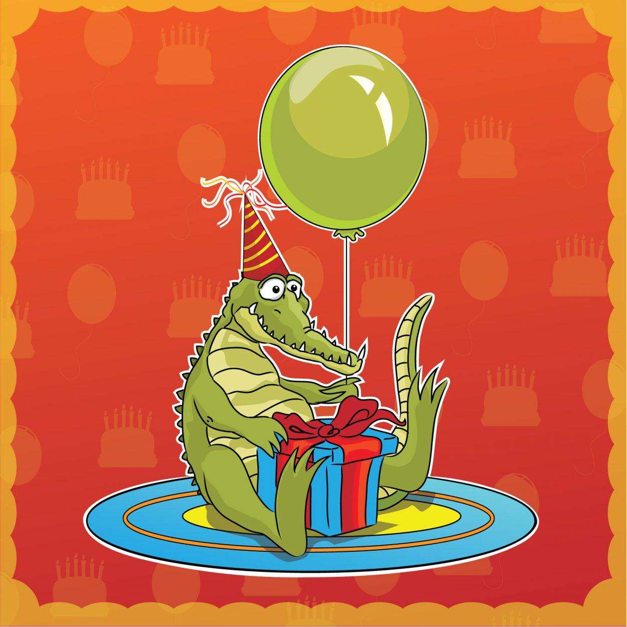 Самый, видео открытки с днем рождения крокодил