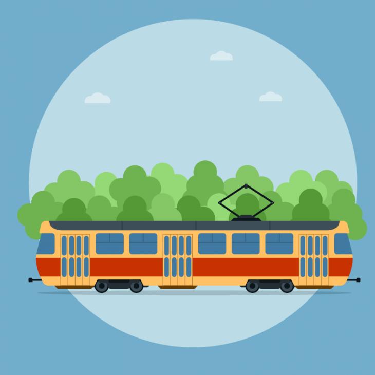Одесский трамвай. КРабиновичу подходит контролёр…