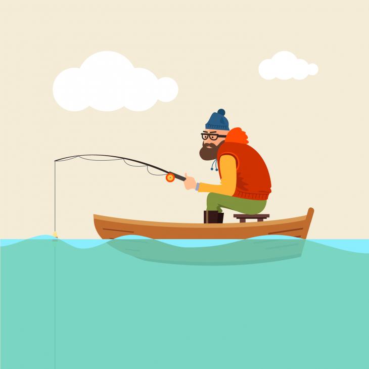Анекдот про очень незадачливого рыбака, попытавшегося обмануть жену