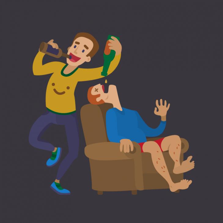Анекдот про двух любителей выпить