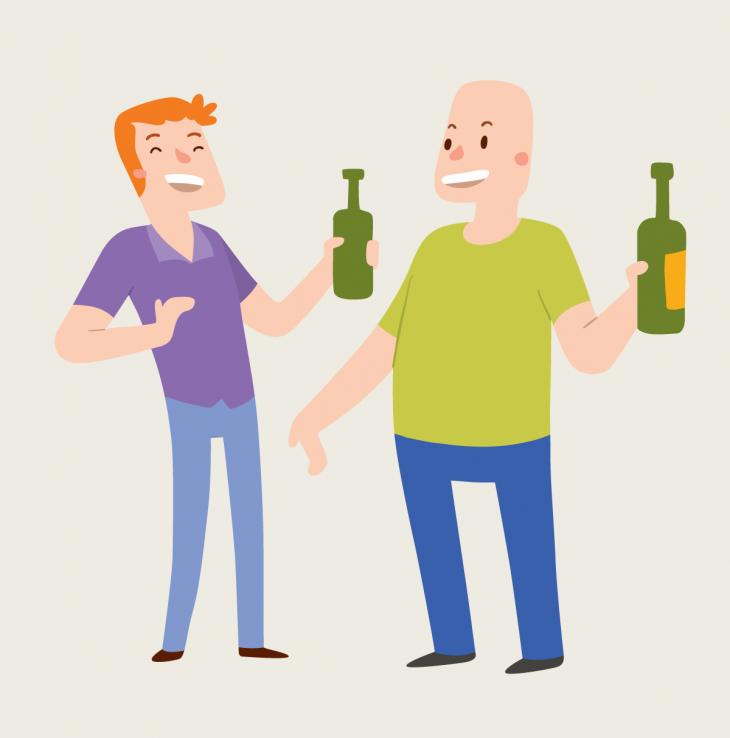 Анекдот про спор двух пьяных друзей