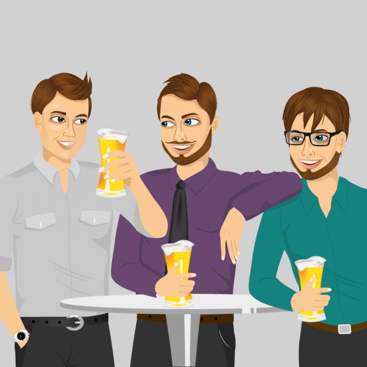 Анекдот про совет пьяных друзей
