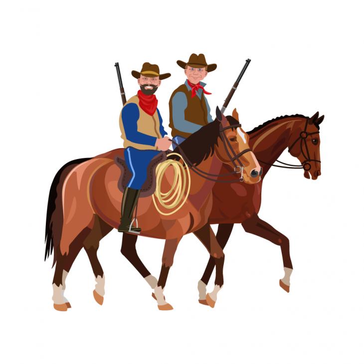 Анекдот про двух ковбоев, удравших отзлых индейцев