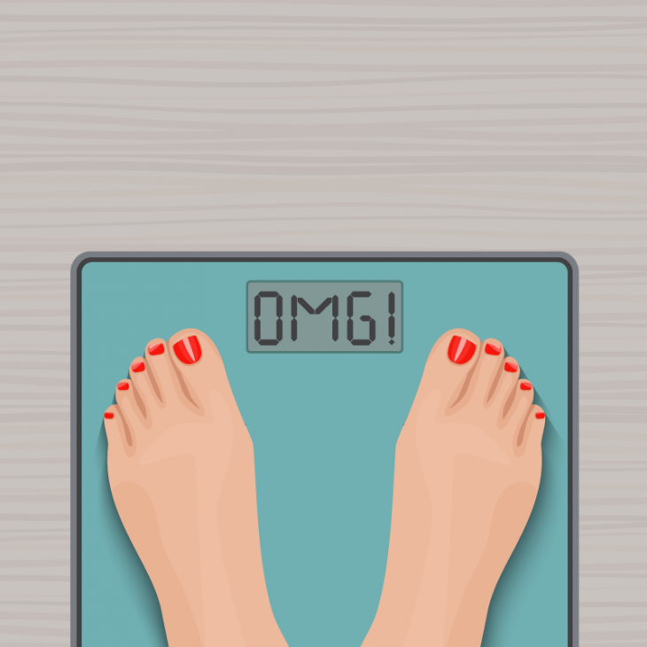Анекдот про пышную даму иаптечные весы