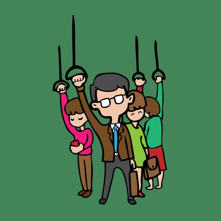 Анекдот про отца одиночку впереполненном автобусе
