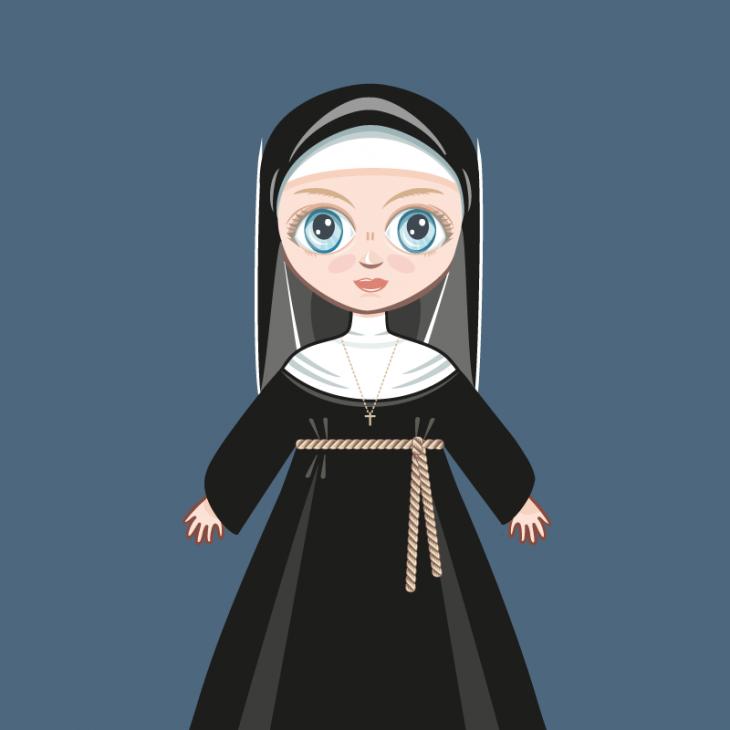 Анекдот про слишком любопытную монахиню ванглийском пабе