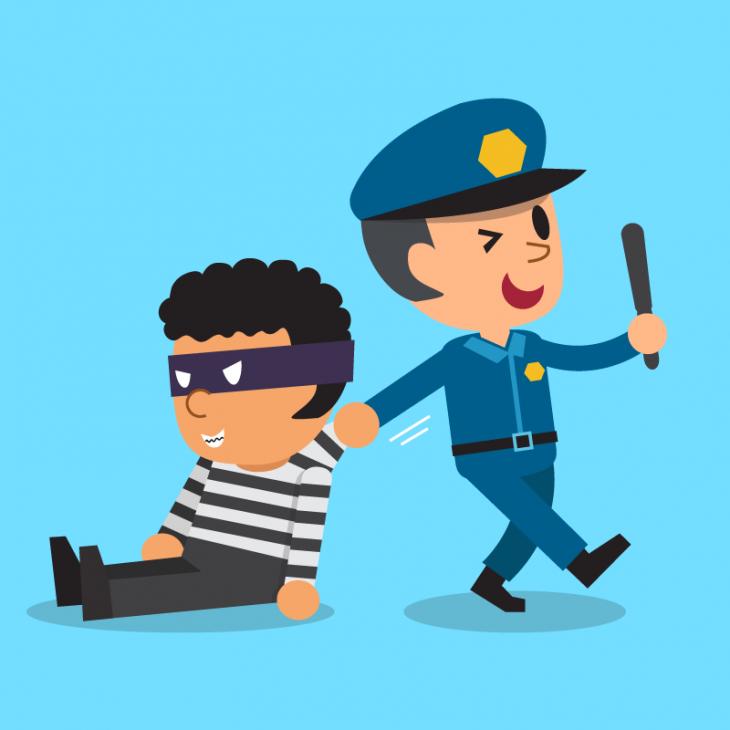 Анекдот про хитрого жулика иглуповатого полицейского