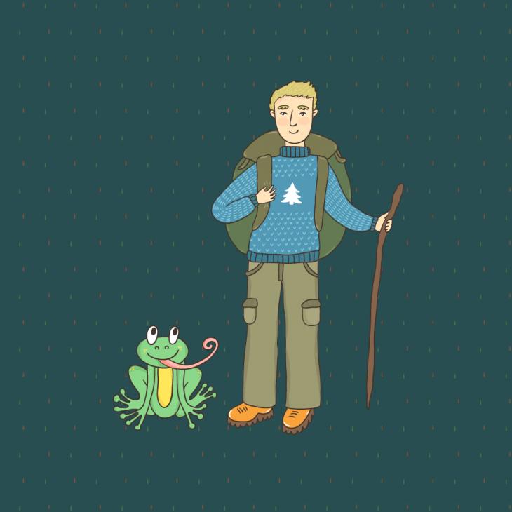 Анекдот про то, как мужик в лесу говорящую лягушку нашёл