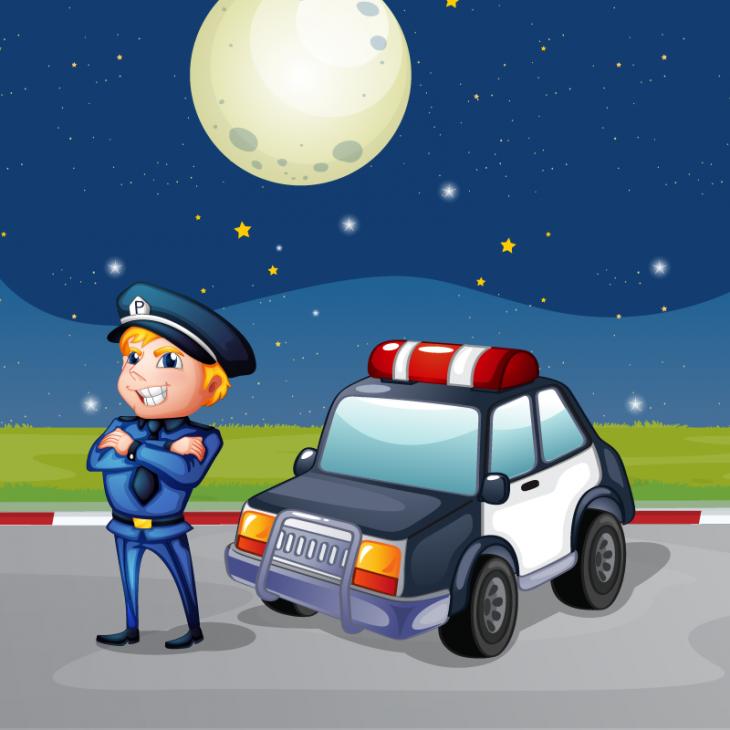 Анекдот про полицейских, встретивших странного водителя натрассе