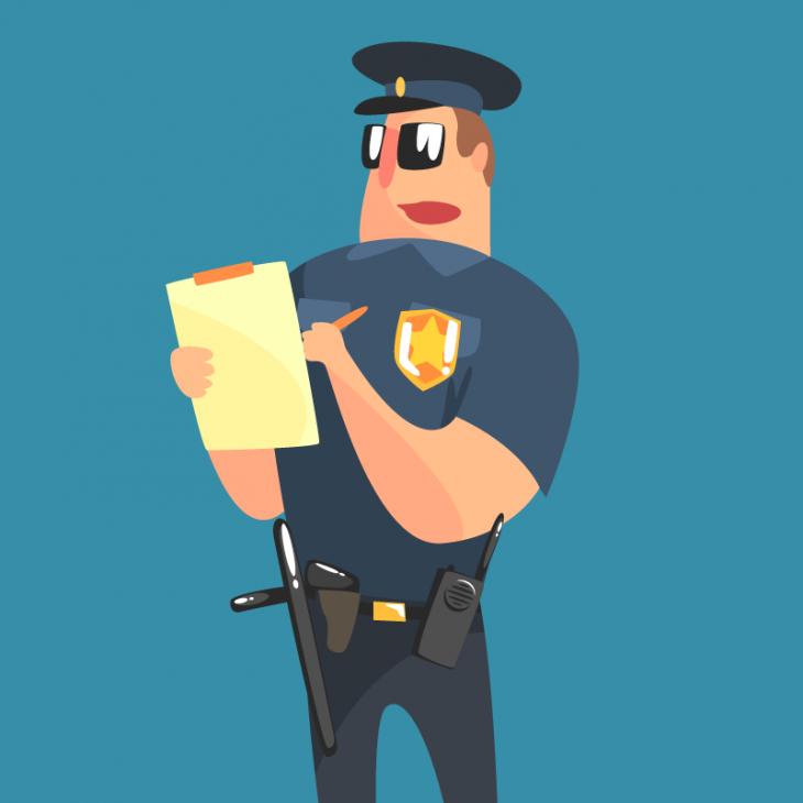 Анекдот про сурового техасского полицейского
