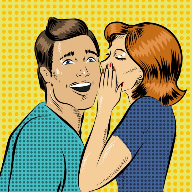 Анекдот о том, как жена мужу небылицы рассказывала