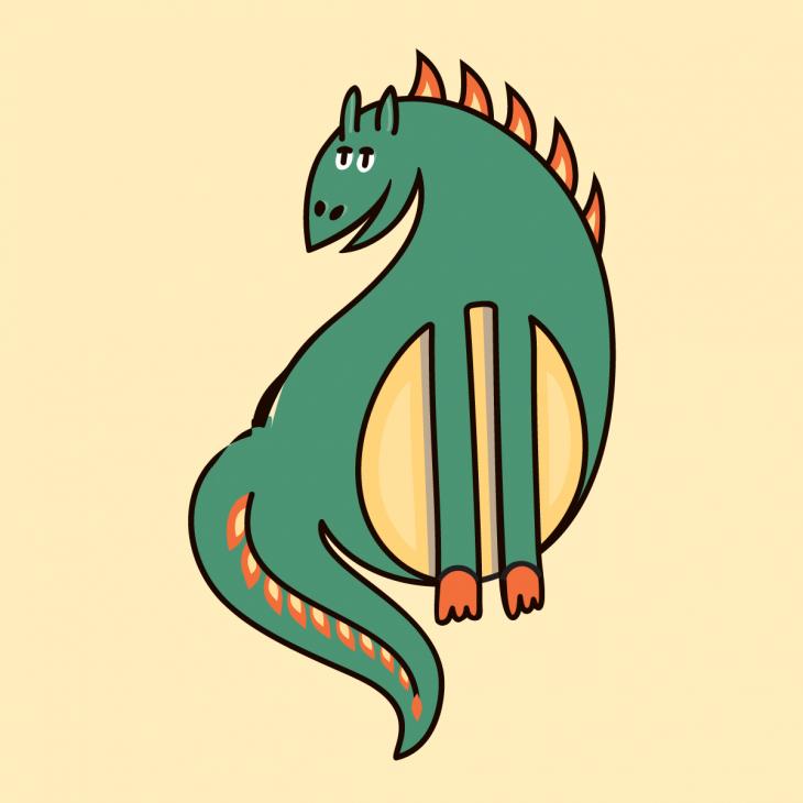 Анекдот про дракона, который хотел съесть зверей влесу