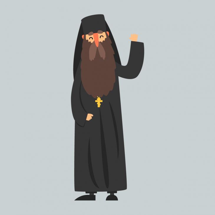 Анекдот про то, как священник всамолёте летел