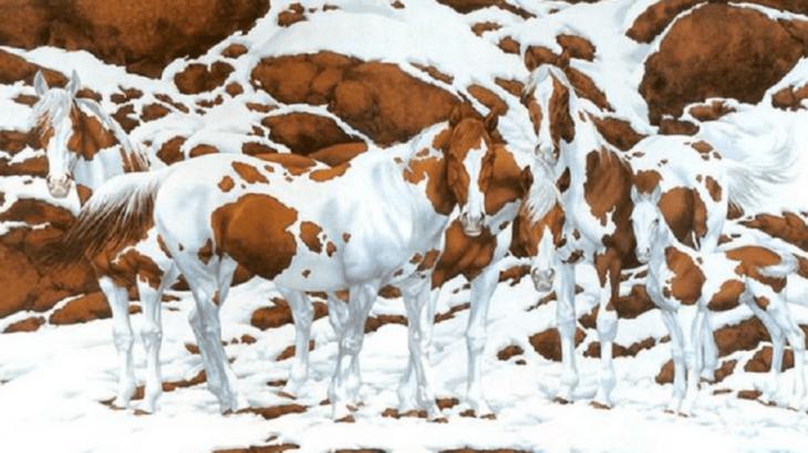 Сколько лошадей вы видите на этой картине?