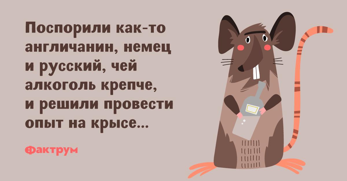 Анекдот про спор о крепости алкоголя