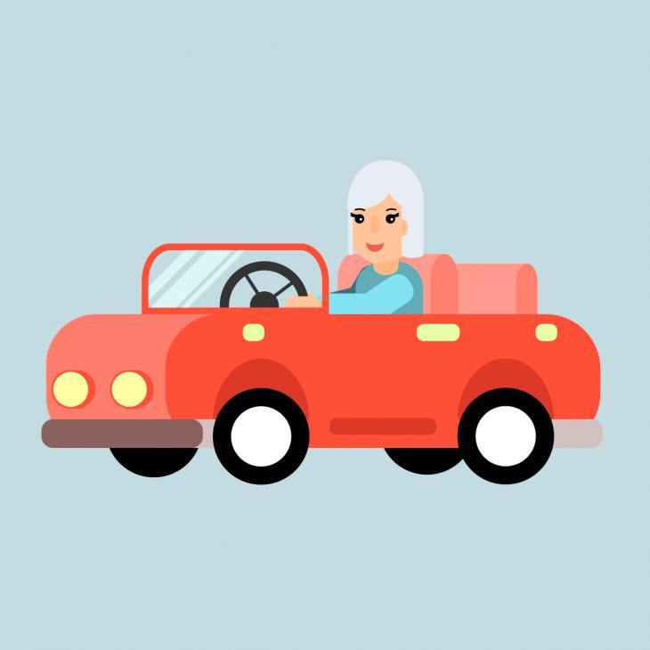 Анекдот про то, как упожилой леди из под носа увели парковочное место
