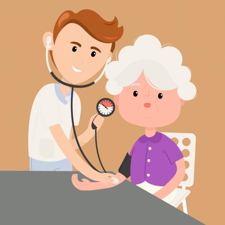 Анекдот про старушку, которой врач запретил полестницам подниматься