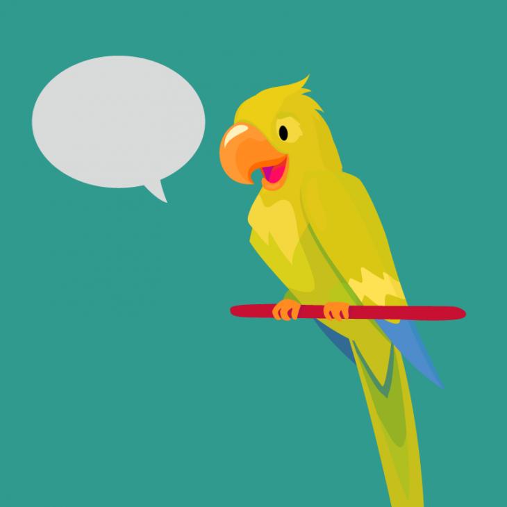 Анекдот про семью, купившую говорящего попугая