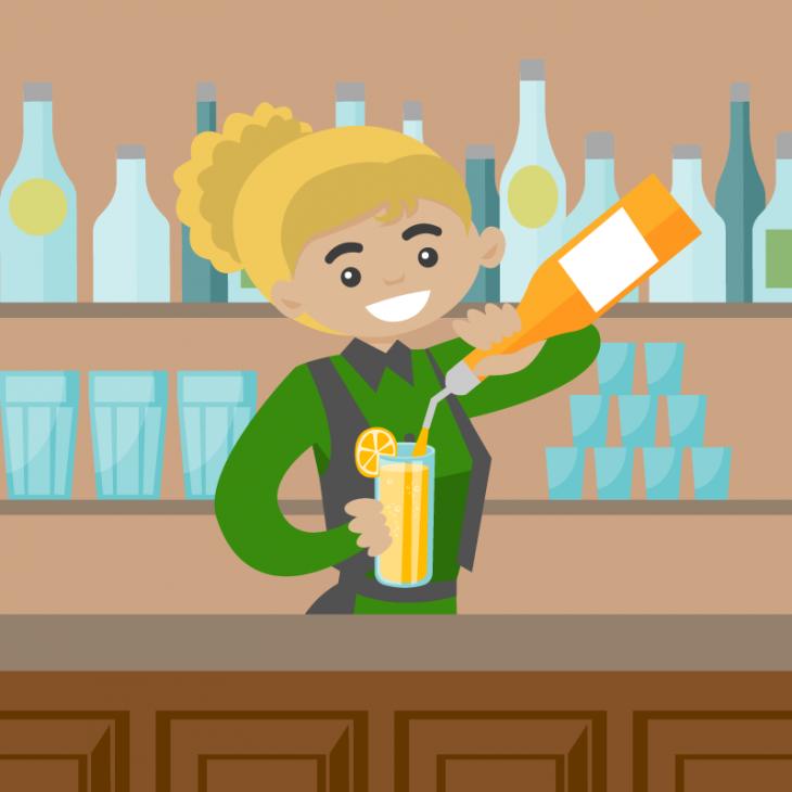 Анекдот про мужика, который попал в бар с одними блондинками