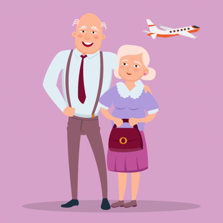 Анекдот о старике и старухе, которые хотели полетать на самолёте