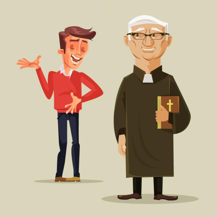 Анекдот про спор священника иневерящего вчудеса студента